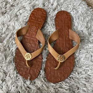 Tory Burch tan leather sandals size 7